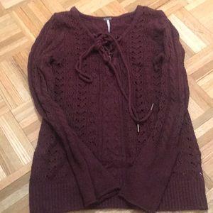 Brand new free people maroon sweater